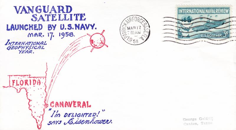 1951 Two Covers Cape Canaveral Satellite Launches Explorer Vanguard