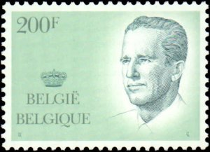 Belgium #1232, 1234, Incomplete Set(2), 1988-1990, Royalty, Never Hinged