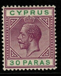 CYPRUS SG76 1913 30pa VIOLET & GREEN MTD MINT