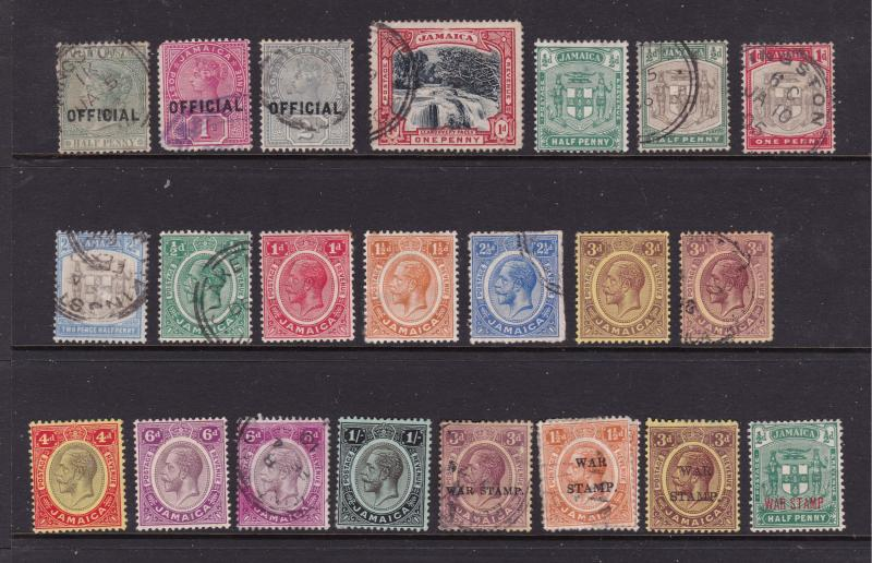 Jamaica small used lot earlies to KGV