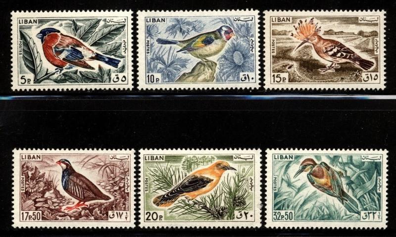 Lebanon liban Scott 434-39 Birds VF Mint NH set