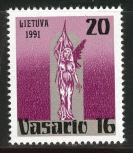 LITHUANIA LIETUVA Scott 388 MNH** 1991 liberty statue