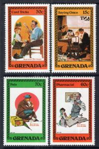 Grenada 1098-1101 Norman Rockwell MNH VF