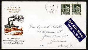 CANADA #373 1957 Mining FDC