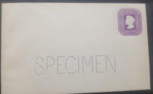 O) 1873 CHILE, PERFINS SPECIMEN, COLON, CHRISTOPHER COLUMBUS 5c violet, POSTAL S