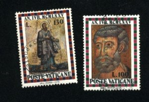 Vatican City #568-569   used VF  1974 PD