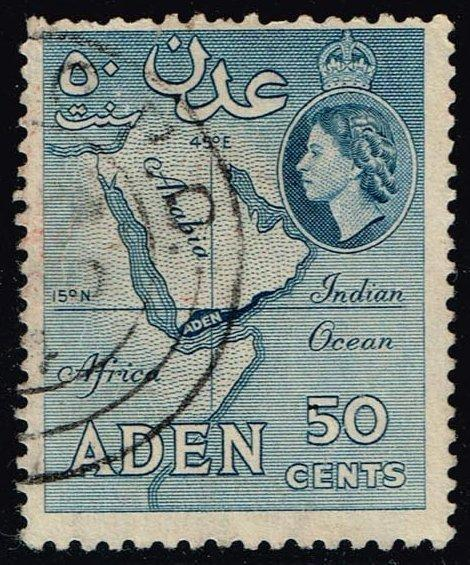 Aden #53a Map of Aden; Used (0.25)