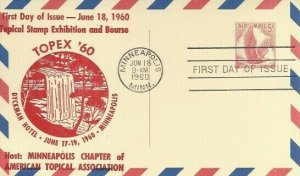 UXC3 5c EAGLE IN FLIGHT AIR MAIL POSTAL CARD - Minn. Chapter ATA