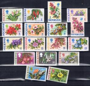 Bermuda 255-71 NH 1970 Flowers
