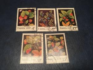 ICOLLECTZONE Russia #5023-27 Flower Set VF Used (Bk1-31)