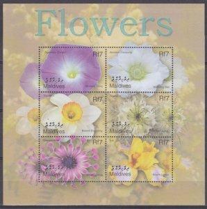 2002 Maldive Islands 3994-3999KL Flowers 12,00 €