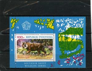 INDONESIA 1977 Sc#1016a FAUNA WILD ANIMALS/TIGER S/S MNH