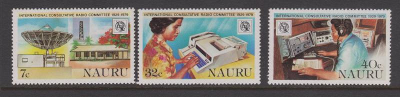 Nauru 1979 Radio Consultative Set Sc#198-200 MNH