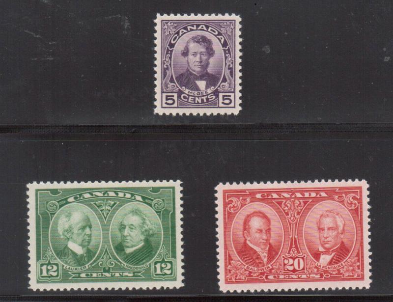 Canada #146 - #148 Extra Fine Never Hinged Gem Set