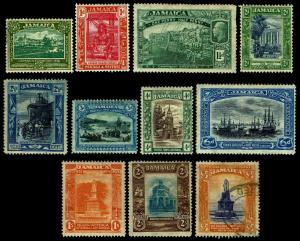 1921-23 Jamaica #88-98 Commemoratives - Most OGHR - Fine+ - CV$61.50 (ESP#3529)