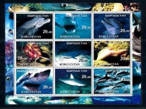 [49770] Kyrgyzstan Local issue 2001 Marine life Fish Shark MNH Sheet