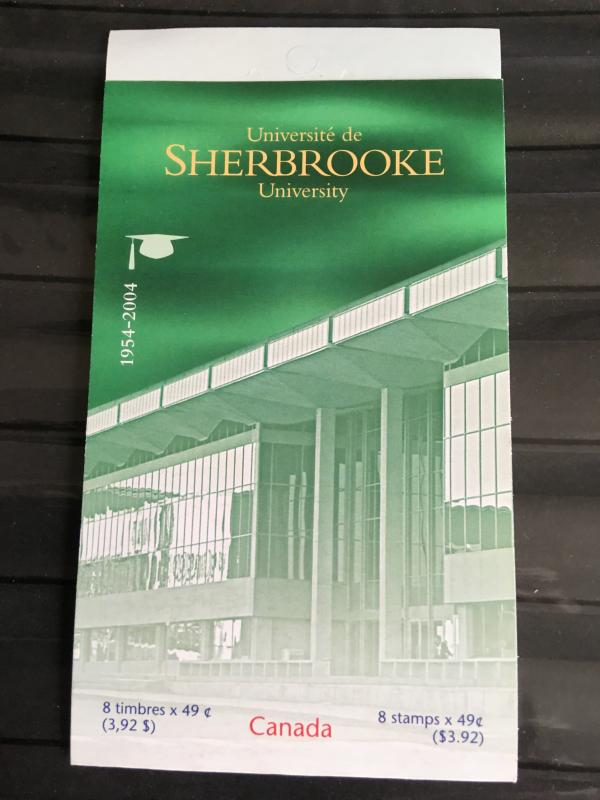 Canada 2004 USC #BK 289a University of Sherbrooke Imprint Pane of 8 In