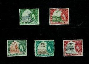 Basutoland: 1964, Decimal currency reprints with Block CA wmk. MLH.