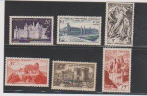 FRANCE #678-679-630-590-588-392 (6) STAMP MNH- LOT#F56