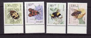 Germany-Sc#9NB209-12-unused NH occupation semi-postal set-Insects-1984-
