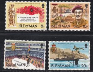 Isle Of Man MNH 201-4 Royal British Legion 60th Anniversary