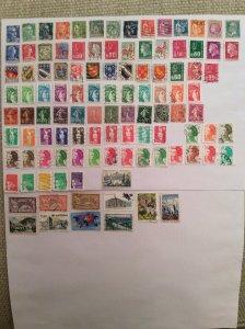 France 100+ stamps - Lot D
