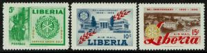 Liberia 354,C97-98  MNH - Rotary International (1955)