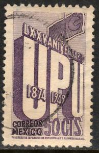 MEXICO 872, 50c 75th Anniv of Universal Postal Union Used. F-VF. (820)