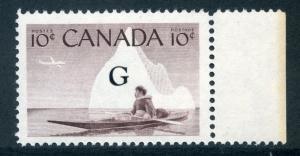 O39 - 1c - Inuk & Kayak - MNH - VF - Canada Official G o/p