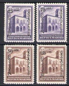 1933 San Marino, Philatelic Conference Di N° 176-179 - MNH