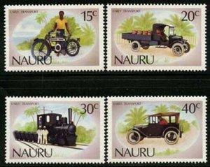 Nauru 1986 Antique Automobiles set Sc# 317-20 NH