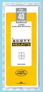 Scott Mounts Black 40mm STRIP 265mm, (Pgk. 10)(00949B)*