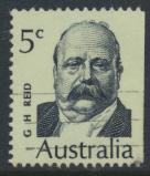 Australia  Sc# 453  George Reid  1969 Used  Booklet stamp see details
