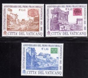 VATICANO VATICAN VATIKAN 2002 PRIMO FRANCOBOLLO PONTIFICIO SERIE COMPLETA COM...