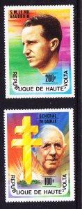 Upper Volta Charles De Gaulle & Baudouin Issues Mint