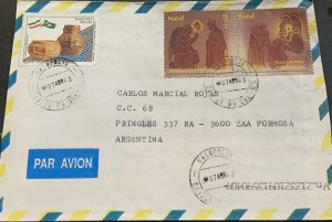 A) 2003, BRAZIL, FROM GALOPOLIS TO ARGENTINA, AIRMAIL, CERAMICS AND CHRISTMAS  S