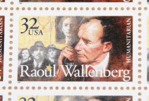 1997 sheet Raoul Wallenberg Sc# 3135