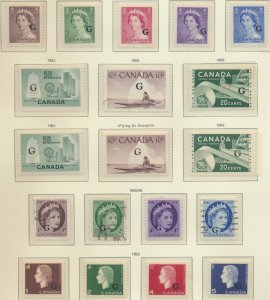 Canada Stamps Scott #O33 To O49, Mostly Mint Some NH, 3 Used, 1955-63 Officia...