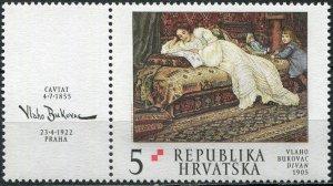 Croatia 2002. Painting by Vlaho Bukovac (1855-1922) (MNH OG) Stamp