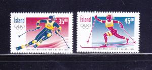 Iceland 852-853 Set MNH Sports, Olympics, Skiing