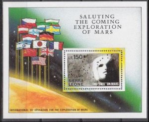 1990 Sierra Leone 1392/B120 Mars 8,50 €