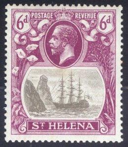 St Helena 1922 6d Grey&Pur CLEFT ROCK SG 104c Scott 85v LMM/MLH Cat £250($327)