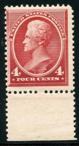 UNITED STATES  SCOTT#215 4c ANDREW JACKSON  MINT NEVER HINGED FULL ORIGINAL GUM