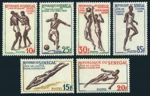 Senegal 212-217,MNH.Michel 258-263. Friendship Games,Dakar-1963.Boxing,Soccer,