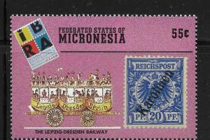 MICRONESIA, 340,  MNH LEIPZIG-DRESDEN RAILWAY