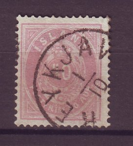 J25507 JLstamps 1882-98 iceland used #18 numeral