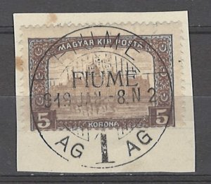 COLLECTION LOT # 4887 FIUME #19 ON PIECE 1918 CV+$27
