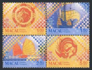Macau MNH 962-5 Tiles 1998
