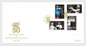 H01 Jersey 2019 The Investiture of HRH The Prince of Wales 1st July 1969 FDC SET
