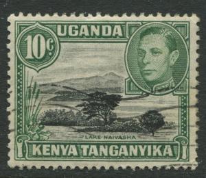 Kenya & Uganda - Scott 70a - KGVI Definitive -1950 - Used - Single 10c Stamp